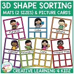 3D Shape Sorting Mats & Shape Cards ~Digital Download~