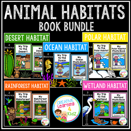 Animal Habitats Book Bundle Digital Download