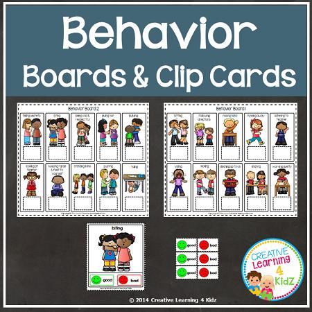Behavior Clip Cards Amp Boards Digital Download
