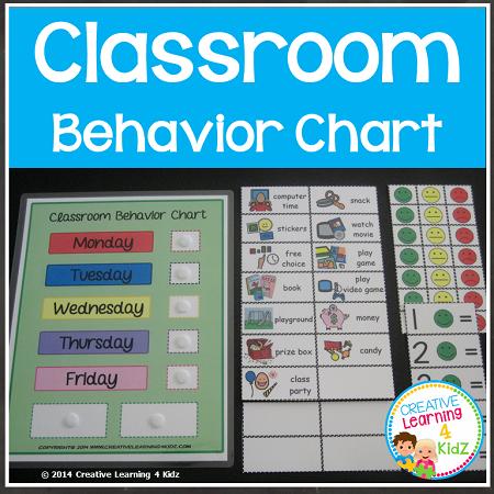 Classroom behavior chart digital download