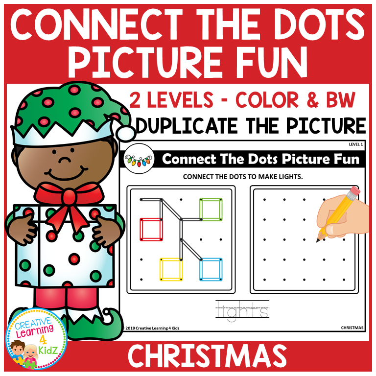 Christmas Connect.Connect The Dots Picture Fun Christmas Digital Download