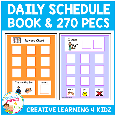 daily schedule book w 270 pecs digital download