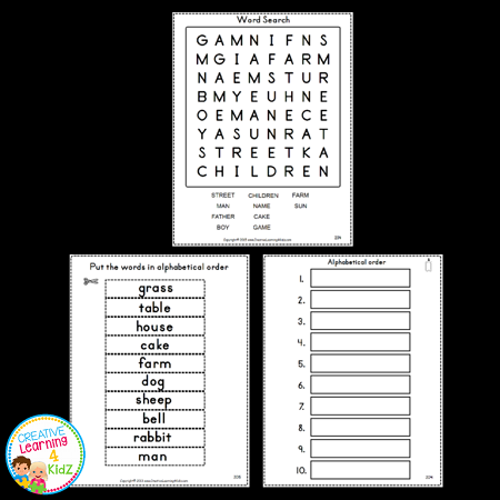 unscramble the letters dolch words workbook 6 common nouns digital 1695