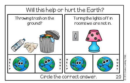 Earth Day Activity Cut Amp Paste Book Digital Download