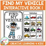 Find My Vehicle Interactive Book 1 ~Digital Download~