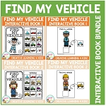 Find My Vehicle Interactive Book Bundle ~Digital Download~