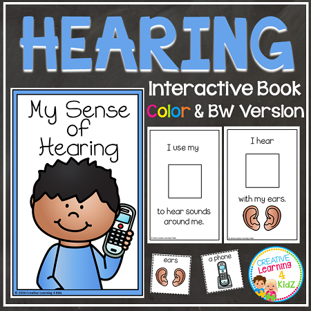 Sense Of Hearing Interactive Book Digital Download