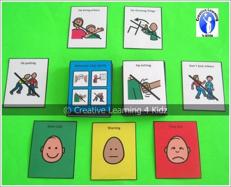 Behavior Cue Cards Digital Download_p_213 on Five Senses