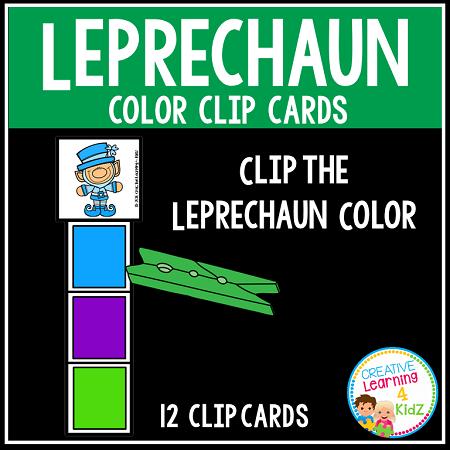 leprechaun color clip cards st patrick s day digital download