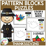 Pattern Block Puzzles: Thanksgiving ~Digital Download~