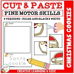 Cut and Paste Fine Motor Skills Puzzle Worksheets: Christmas Cookies ~Digital Download~