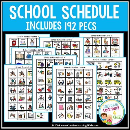 School Schedule Book W 192 Pecs Digital Download