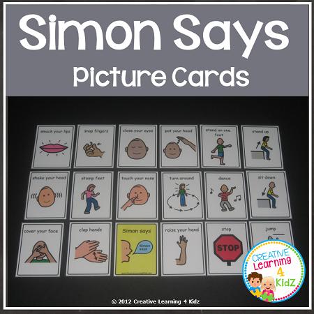 Simon Says Cards Digital Download