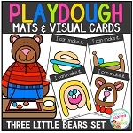 Playdough Mats & Visual Cards: Fairy Tale - Goldilocks & the Three Little Bears ~Digital Download~