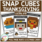 Snap Cubes Activity - Thanksgiving ~Digital Download~