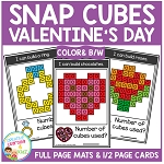Snap Cubes Activity - Valentine's Day ~Digital Download~