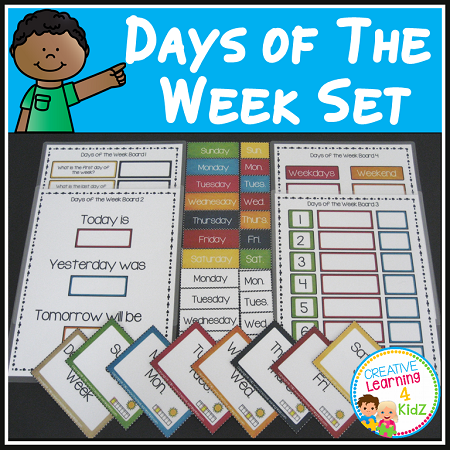 Days Of The Week Boards Amp Flashcards Digital Download