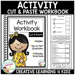 Cut & Paste Activity Workbook  ~Digital Download~
