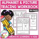 Alphabet & Picture Tracing Workbook ~Digital Download~