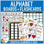 Alphabet Matching Boards & Flashcards ~Digital Download~