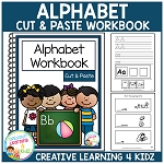 Cut & Paste Alphabet Workbook 1 ~Digital Download~