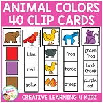 Animal Color Clip Cards ~Digital Download~