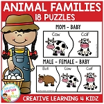 Animal Family Puzzles ~Digital Download