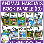 Animal Habitats Book Bundle ~Digital Download~