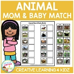 Animal Mom & Baby Match ~Digital Download~
