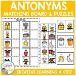 Antonym Matching Boards & Puzzles  ~Digital Download~