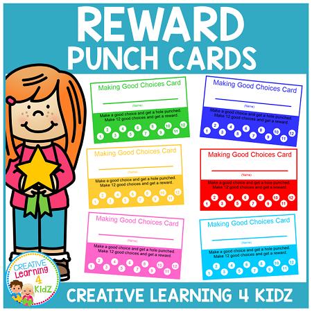 Behavior Reward Punch Cards Making Good Choices Digital