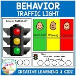 Behavior Traffic Light Chart & Card Set ~Digital Download~