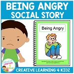 Social Story Being Angry Book + Cards ~Digital Download~