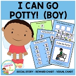 Social Story I Can Go Potty! (Boy) - Visuals + Rewards Toilet Training ~Digital Download~