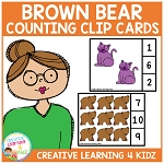 Animal Counting Clip Cards ~Digital Download~
