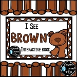 Colors I See Brown Interactive Book ~Digital Download~
