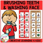 Brushing Teeth & Washing Face Visual Charts ~Digital Download~
