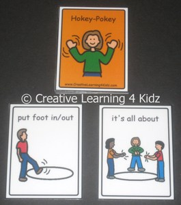 Hokey Pokey Cards ~Digital Download~