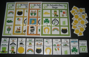 St. Patrick's Day Bingo Lotto Game ~Digital Download~