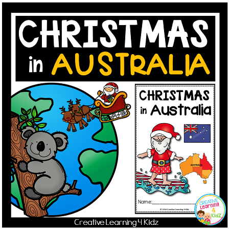 Christmas In Australia Book.Christmas Around The World Australia Book Digital Download