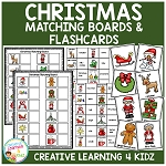Christmas Matching Boards + Flashcards ~Digital Download~