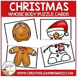Christmas Whose Body? Puzzle Cards Freebie ~Digital Download~