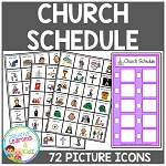 Church Schedule Board w/ Picture Icons ~Digital Download~