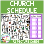 Church Schedule Board + PECS ~Digital Download~