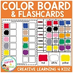 Color Matching Board & Flashcards ~Digital Download~