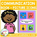 Communication Book w/ Picture Icons ~Digital Download~
