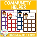 Community Helpers Sorting Mats ~Digital Download~
