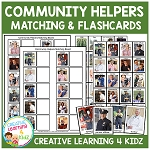 Community Helpers Matching Boards & Flashcards ~Digital Download~