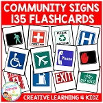 Community Safety Survival Signs & Symbols 135 Flashcards ~Digital Download~