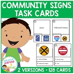 Community Signs Task Cards Survival Signs ~Digital Download~